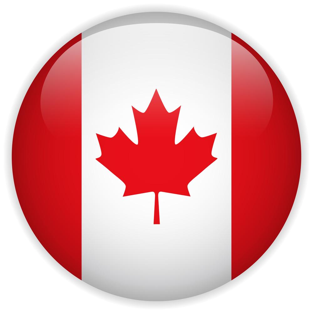 Canada Flag Glossy Button