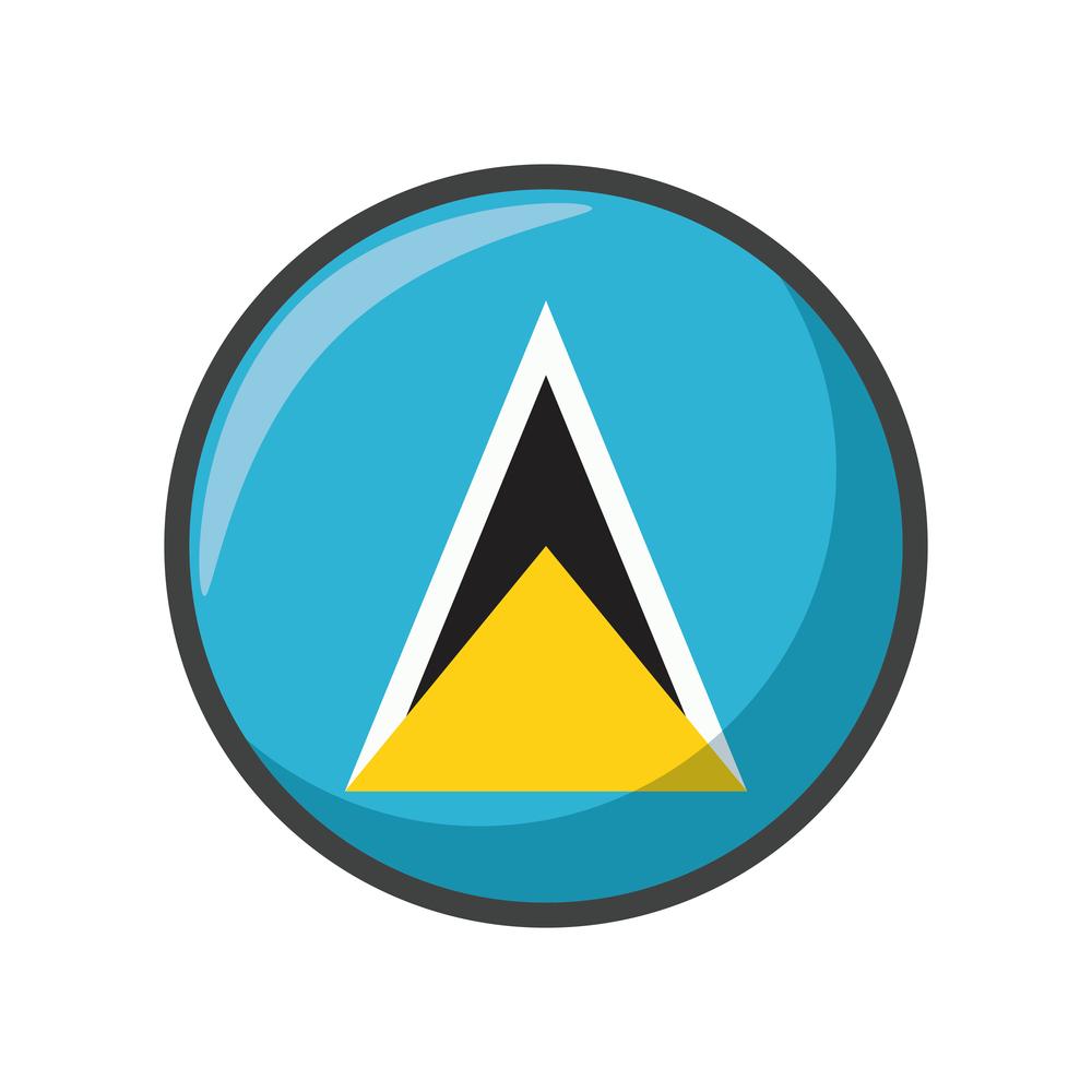Isolated st lucia flag icon block design